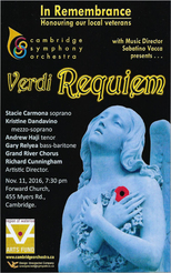 Cambridge Symphony Orchestra Remembrance Day Concert 2016